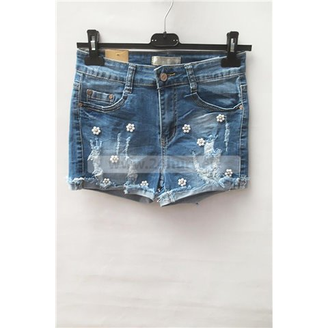 Szorty jeans damskie 1506K076 (26-31, 12)